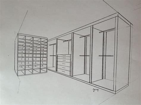 Schrank Skizze by Sketch Design For Walk In Wardrobe Hanging