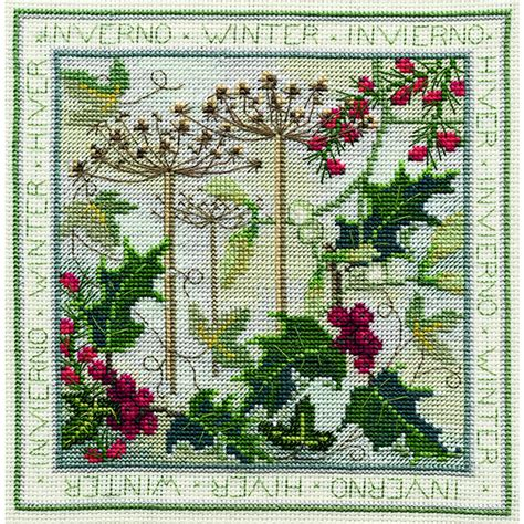 Cross Stitch Kit 80713 four seasons winter counted cross stitch kit stitchkits