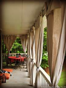 Outdoor Curtains For Porch Drop Cloth Curtains For A Porch Add Privacy And Sun