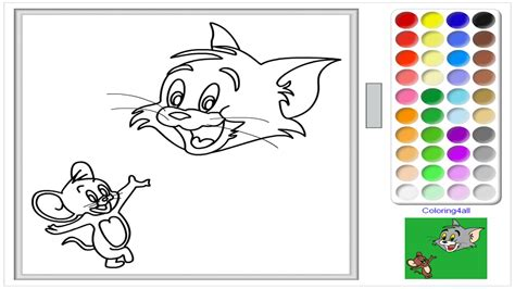 tom and jerry online coloring page for kids tom and