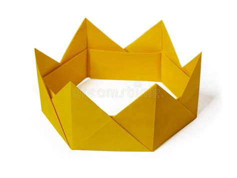 crown craft gonzales la origami paper crown stock photo image of royalty