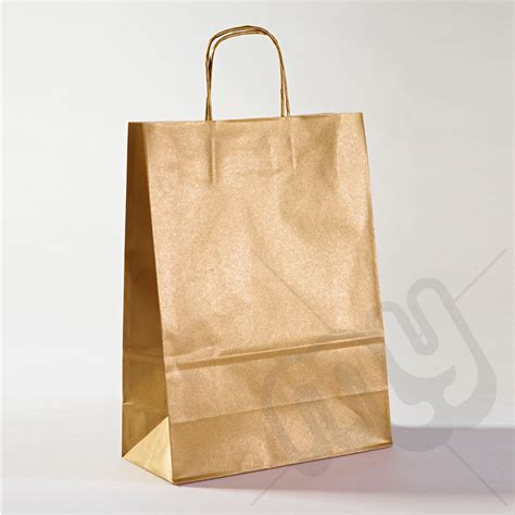 Paper Bags From Newspaper - gold kraft paper bags with twisted handles large x 25pcs