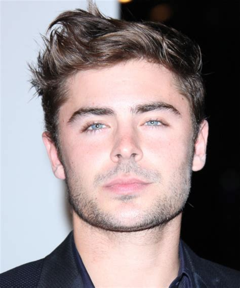 Zac Efron Short Straight Casual Hairstyle   Medium