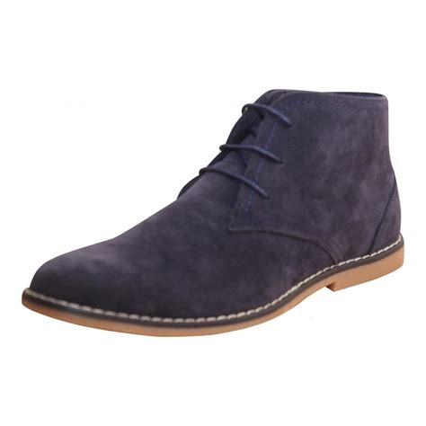 wren footwear mens faux suede lace up desert ankle