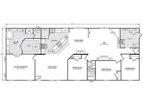 fleetwood mobile home floor plans spring hill ii 32764s fleetwood homes floor plans