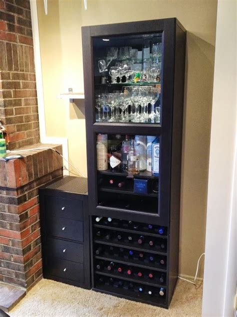 combine ikea items  build   wine rack