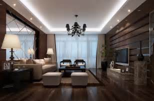 Images Of Livingrooms by Wooden Walls Designed For Luxury Living Room 3d House