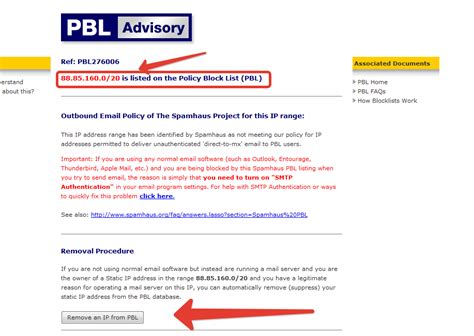Ip Address Blacklist Lookup Email365 Org Official Smtp Provider How To Remove An Ip
