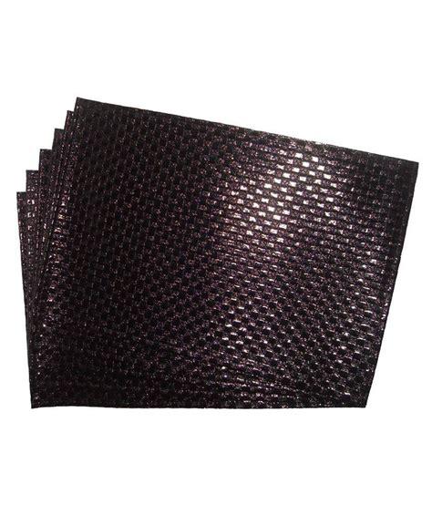 ritwik gray contemporary rexine set of 6 pcs table mats