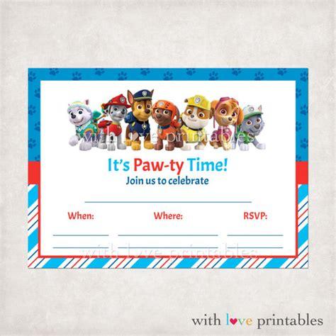 printable birthday invitations paw patrol printable paw patrol fill in blank birthday by