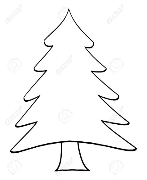 printable black and white christmas tree outline image of tree kids coloring europe travel
