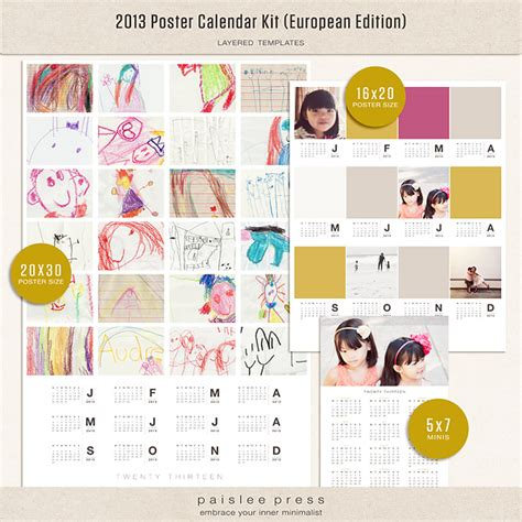 Poster Calendar The Lilypad Calendars 2013 Poster Calendar Kit