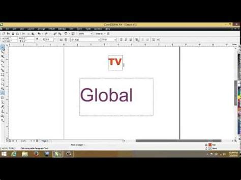 tutorial coreldraw membuat logo youtube tutorial cara membuat logo global tv coreldraw youtube