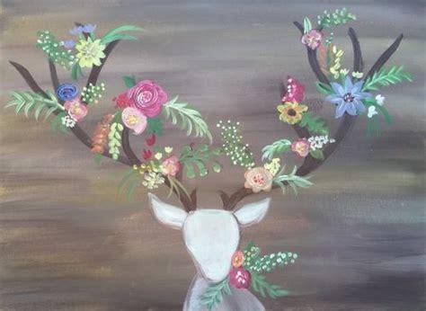 paint nite deer 25 best ideas about deer paintings on