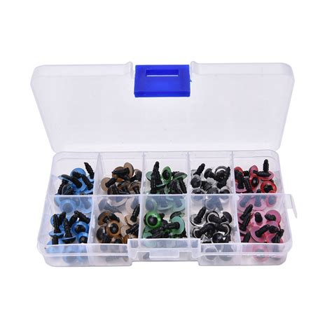 Handcrafted Accessories - 100pcs box 8mm 10mm plastic craft doll safety
