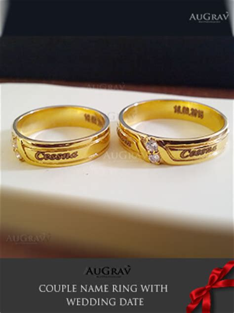 wedding bands with names name engraved gold rings wedding rings wedding