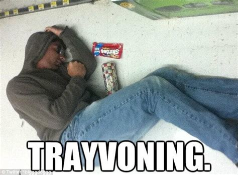 Trayvon Meme - trayvoning posing like trayvon martin s dead body for laughs