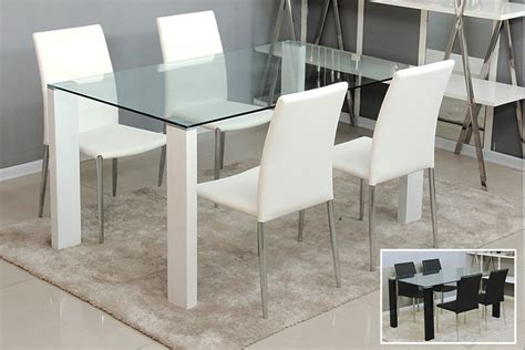 Modern Glass Dining Table by Glass Dining Table Modern Pace Collection Mid Century