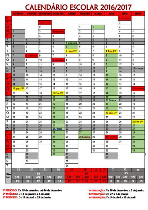 imprimir calendario escolar 2016 2017 cantinho do primeiro ciclo calend 225 rio escolar 2016 2017