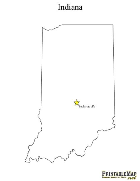 Indiana State Map Printable