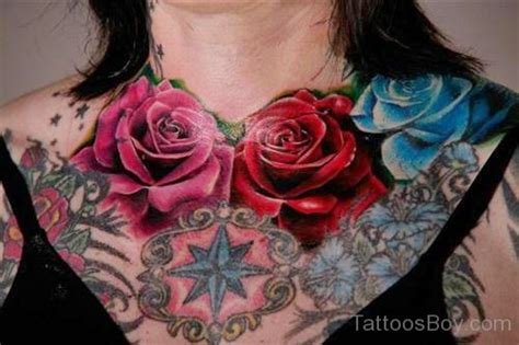 chest tattoo roses chest tattoos designs pictures page 10