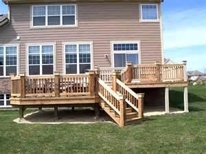 wooden deck wooden deck in vernon il decks photo gallery
