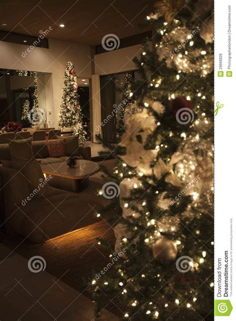 Fairy Lights In Bedroom christmas tree lit with fairy lights royalty free stock