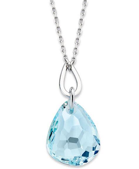 Necklace Pegasus Swarovski Silver Rhodium swarovski necklace rhodium plated light azore pendant necklace jewelry watches macy s