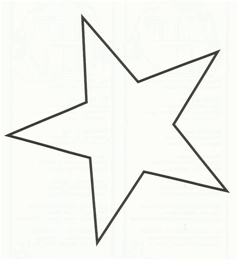 printable star a4 large star template printable cliparts co