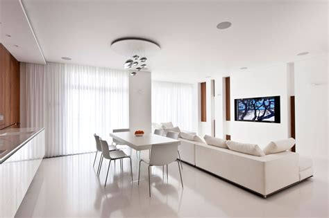 White Interior by Modern White Apartment Interior By Alexandra Fedorova 3