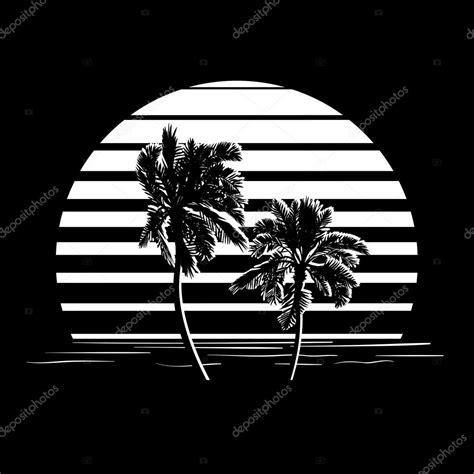 imagenes de verano blanco y negro logo de rayas blanco y negro con palmeras archivo
