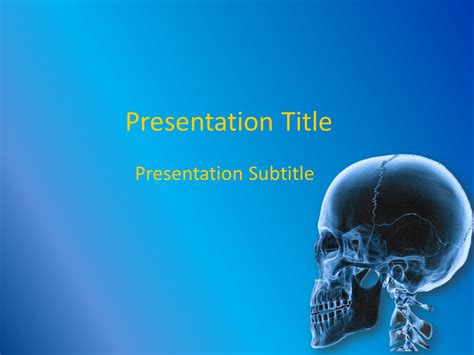 orthopedics powerpoint template free download free