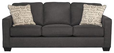 alenya sofa sleeper alenya charcoal comtemporary track arm sofa