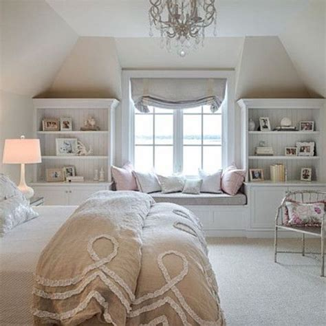 Bedroom In The Eaves Lovely Soft Palette Window Seats Eaves Room