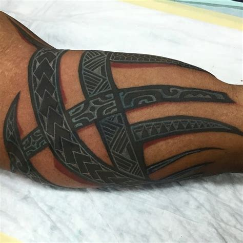 white ink tribal tattoo color and white ink blackwork tattoos tattoodo
