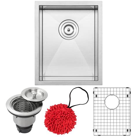 ticor stainless steel sinks ticor pacific zero radius undermount 16 stainless