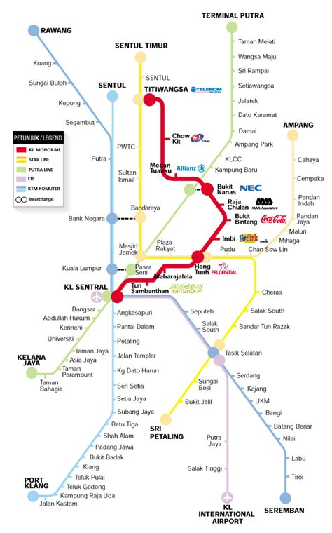 Lrt Ktm Route Komuter Map