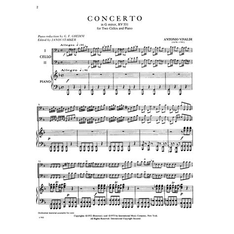 0014117541 piano concerto no g minor vivaldi antonio concerto in g minor f iii no 2 rv 531