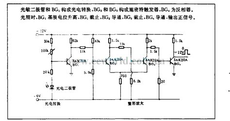 photo electric diode photoelectric lification circuit used in nc wire cut machine lifier circuit circuit