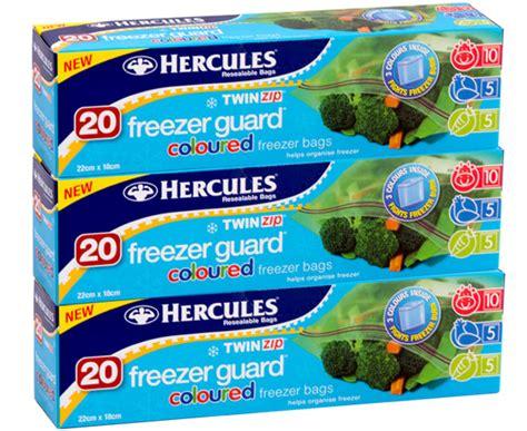 Day Kopi Freeze Bag catchoftheday au 3 x hercules zip freezer guard coloured freezer bags 20pk