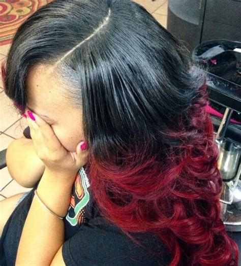 red sew in hairstyles sew ins red ombre and ombre on pinterest
