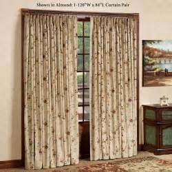 Patio Door Draperies by Home Gt Fireside Floral Insulated Pinch Pleat Window Treatments