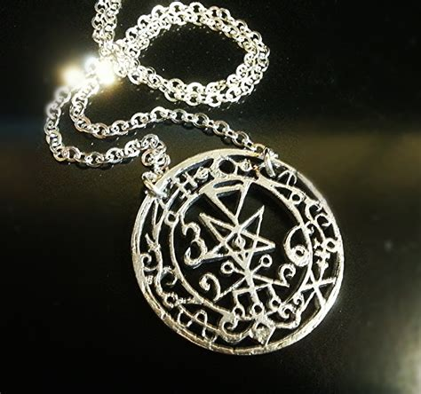 sterling silver seal of lilith amulet pendant with chain
