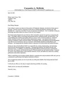 Employment Attorney Cover Letter by How To Write A District Attorney Letter Sle Recentresumes