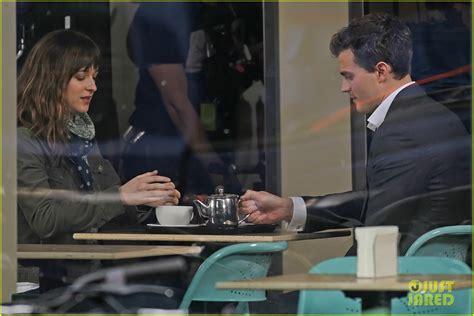 film fifty shades of grey news jamie dornan and dakota johnson get to work on fifty
