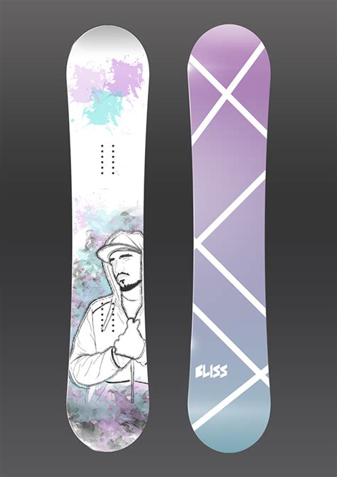 bliss snowboards on behance