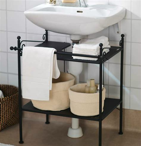 the sink shelf ikea keep a tidy bathroom with ikea ronnskar sink shelf it s