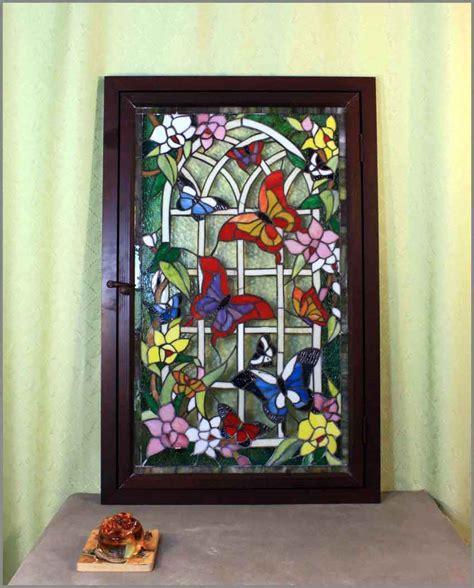 bleiverglasung jugendstil antik fenster eisenfenster fensterbild