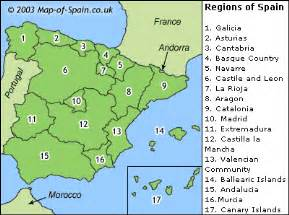 map of spain and regions palmeral2eso where i live
