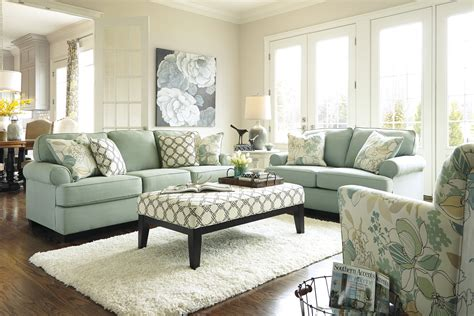 livingroom sets buy daystar seafoam living room set by signature design